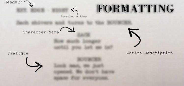 basics of script formatting